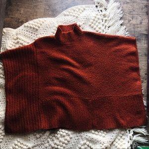 (UNIVERSAL THREAD) Sweater Poncho rust orange